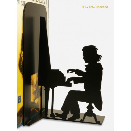 Bookend Ludwig van Beethoven playing on his piano. Metal laser cut decoration