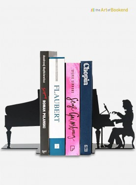 The stunning set of bookends Frédéric Chopin. Height 19 cm