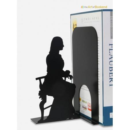 Serre-livres de la Joconde dite Mona Lisa. Hauteur 19 cm. Création en métal