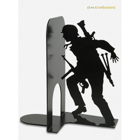 Bookend the Insurgent of the Warsaw uprising. Metal laser cut decoration