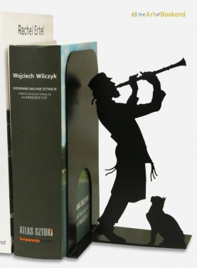 Bookend Judaica Jewish music Klezmer clarinet. Steel laser cut. Height 19 cm