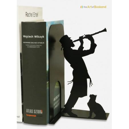 Serre-livres Klezmer joueur de clarinette. Culture Juive. Acier découpé laser