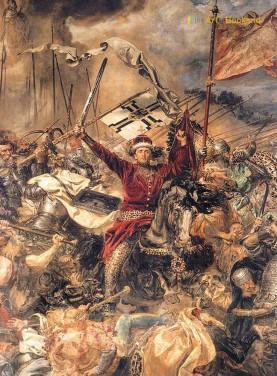 Serre-livre la Bataille de Grunwald d'après le tableau de Jan Matejko. Hauteur 19 cm