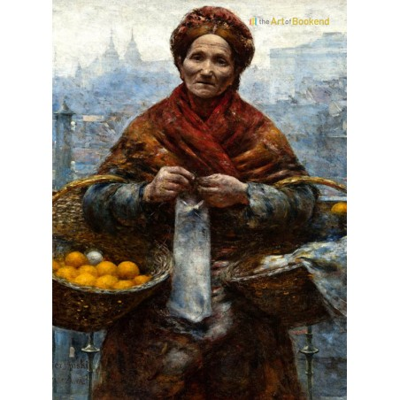 Jewess with oranges, a painting by famous polish artist Aleksander Gierymski