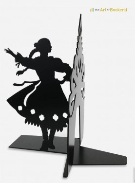 Bookend Polish Folk Górale female dancer black. Height 19 cm