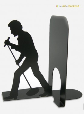 Bookend Johnny Hallyday the rocker. Height 19 cm