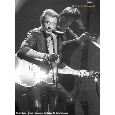 The emblematic  french rocker Johnny Hallyday