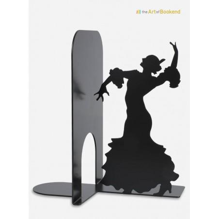 Serre-livres la danseuse de Flamenco. Création en métal par découpe laser