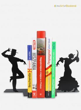 Serre-livres Flamenco avec les célèbres danseurs andalous. Hauteur 19 cm