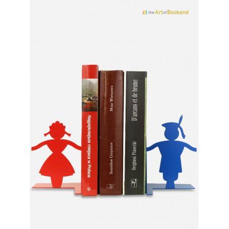 Ensemble de serre-livres Cracovie sur le thème du folklore polonais de cette région du sud de la Pologne. Hauteur 15 cm