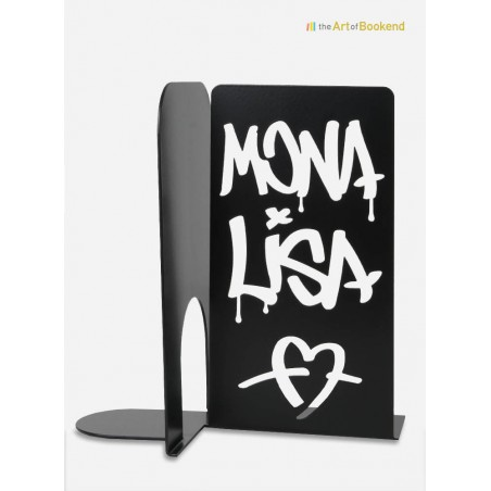 Bookend Mona Lisa Graffiti. Height 19 cm. A metal laser cut decoration