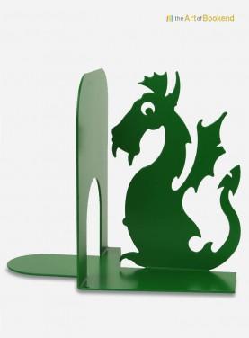 Serre-livres Cracovie avec le fameux Dragon du Wawel. Décoration en acier découpé laser. Hauteur 15 cm