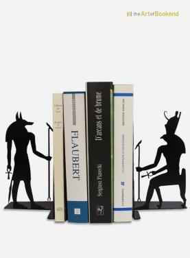 Superbe ensemble de serre-livres Egypte Anubis et Horus sur le thème de l'Egypte ancienne. Hauteur 19 cm