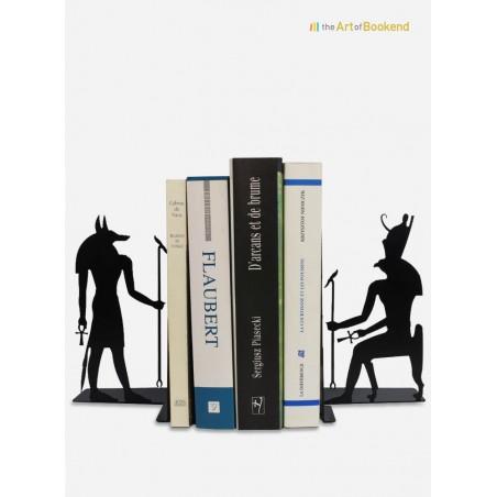 Superbe ensemble de serre-livres Anubis et Horus sur le thème de l'Egypte ancienne. Hauteur 19 cm
