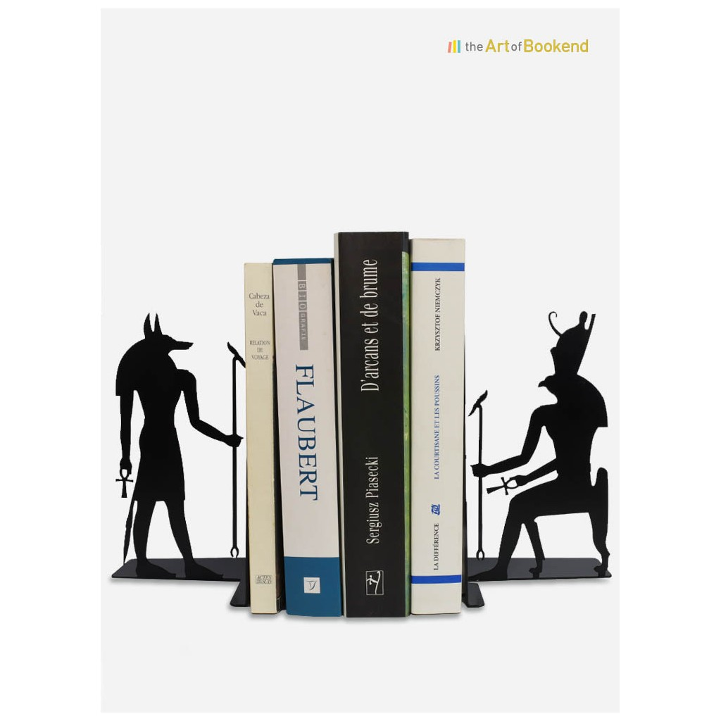 Stunning Egyptian bookends Anubis and Horus on the theme of the ancient Egypt. Height 19 cm