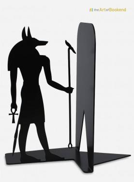 Serre-livres du dieu Anubis sur le thème de l'Egypte antique. Création en métal par découpe laser