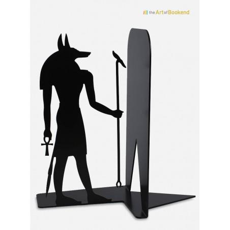 Serre-livres Egypte du dieu Anubis sur le thème de l'Egypte antique. Création en métal par découpe laser