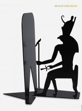 Serre-livres en métal du dieu égyptien Horus. Hauteur 19 cm