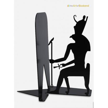 Serre-livres Egypte en métal du dieu égyptien Horus. Hauteur 19 cm