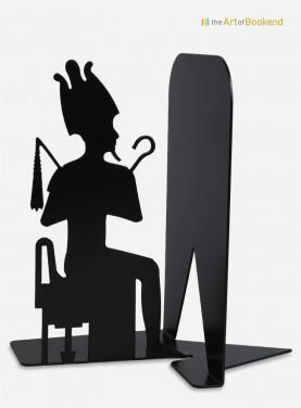 Serre-livres Osiris sur le thème de l'Egypte ancienne. Hauteur 19 cm. Acier découpé laser