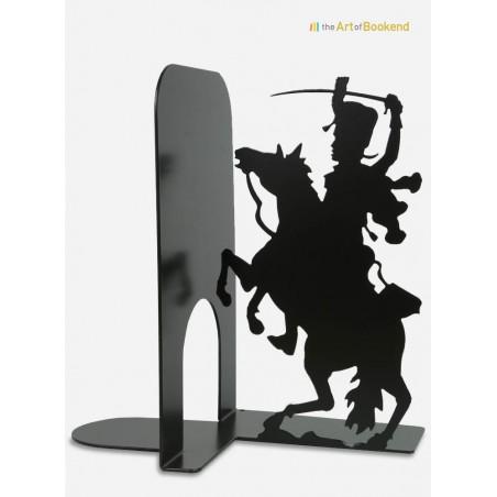 Serre-livres Hussard sur le thème des armées de Napoléon. Création en métal par découpe laser. Hauteur 19 cm