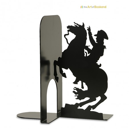 Bookend Bonaparte crossing the Alps. Metal laser cut bookend. Louvre museum. Height 19 cm