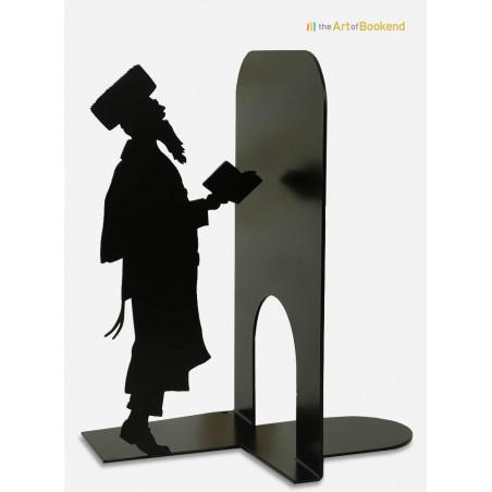 Bookend Judaica featuring a hasidic jew. Steel laser cut