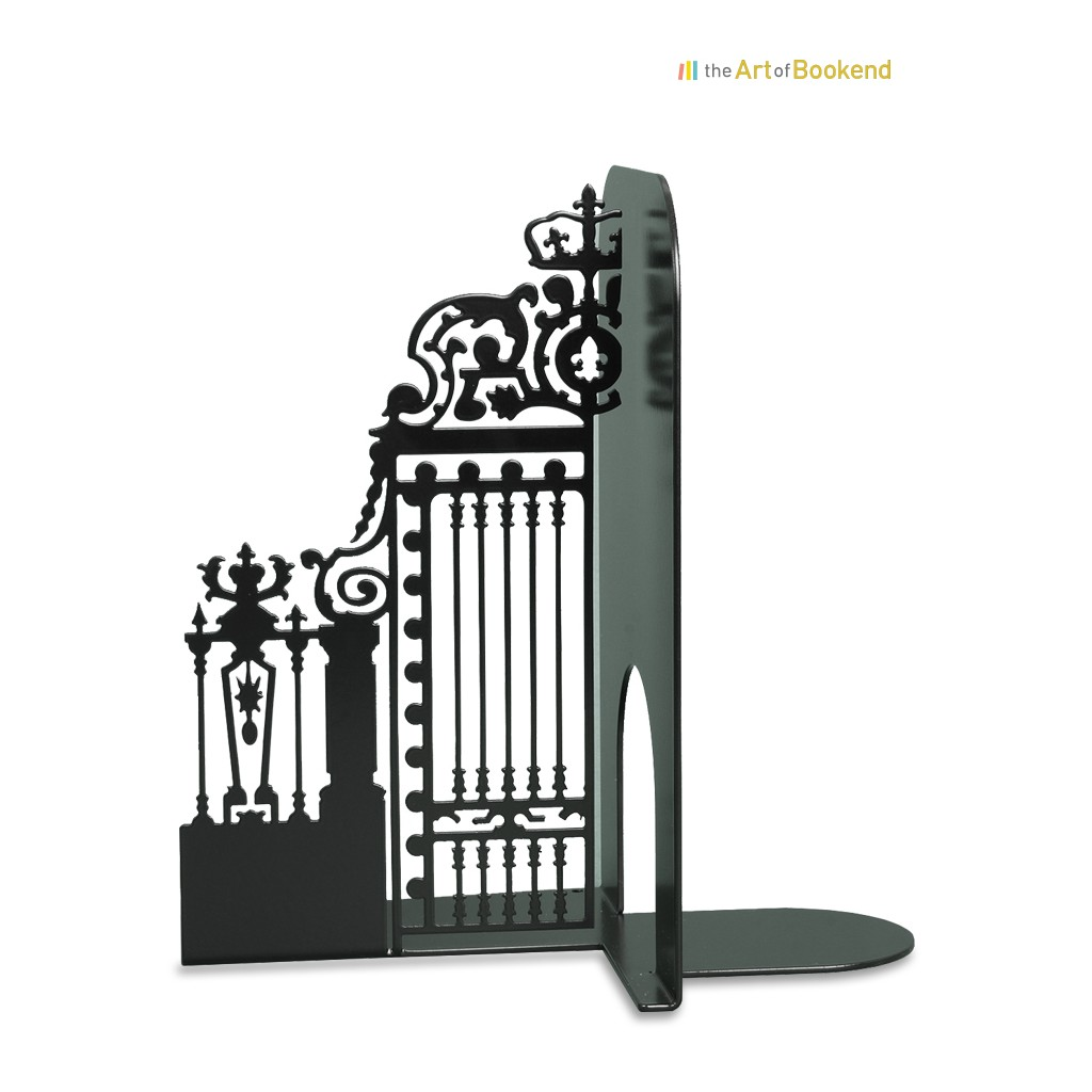 Le magnifique serre-livres Grille Royale de la cour d'Honneur du château de Versailles. Hauteur 19 cm.