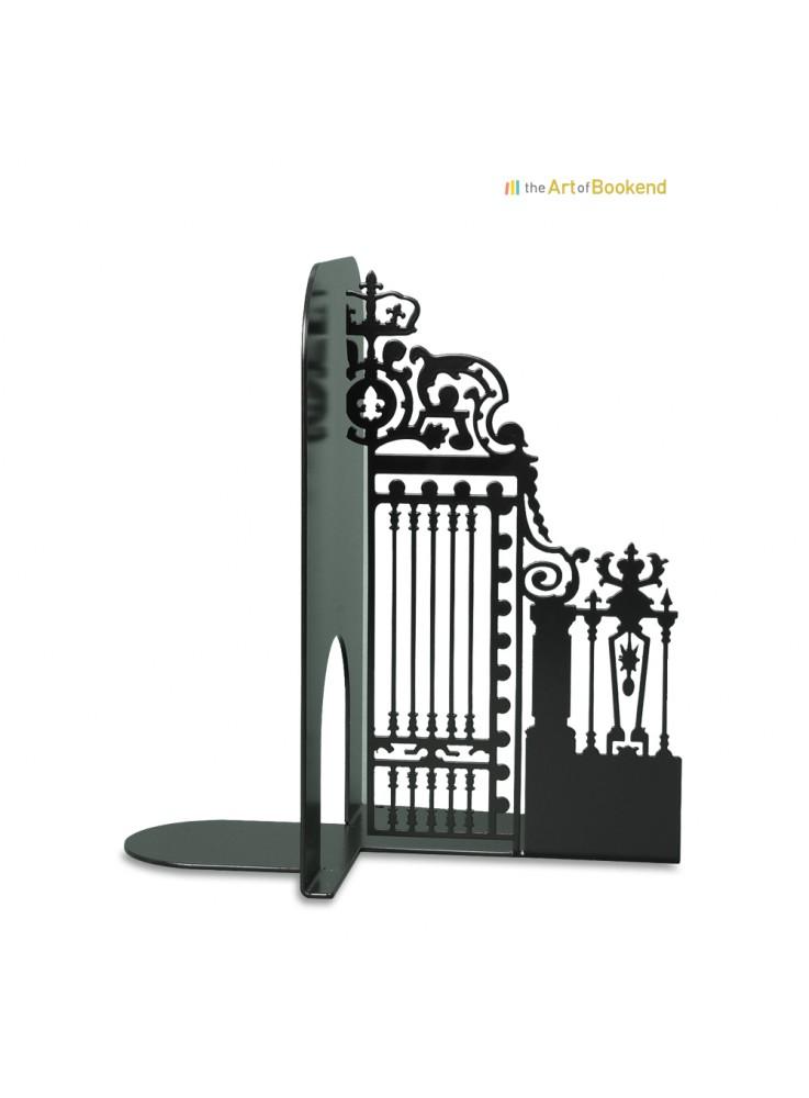 Le superbe serre-livres Grille Royale de la cour d'Honneur du château de Versailles. Modèle droit. Hauteur 19 cm