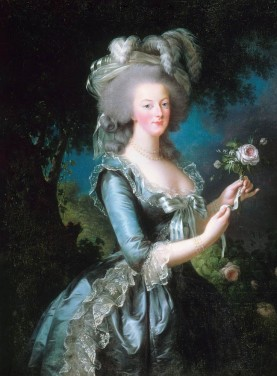 Queen of France  Marie Antoinette from a painting by Élisabeth Louise Vigée Le Brun. The Louvre museum