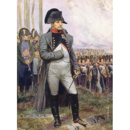 Napoléon regardant la parade des grenadiers de la Garde Impériale d'après un tableau de Edouard Detaille