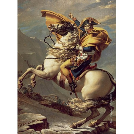 Napoleon crossing the Alps during the campaign of Italy from a painting by Jacques-Louis David