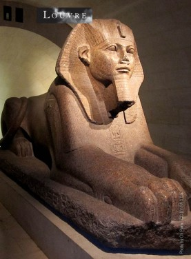 The Sphinx of Tanis found among the ruins in the Temple of Amun-Re at Tanis in 1825. Museum Le Louvre