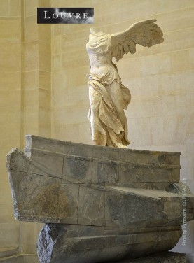The statue of the greek goddess of victory Nike discovered on the island of Samothrace in 1863