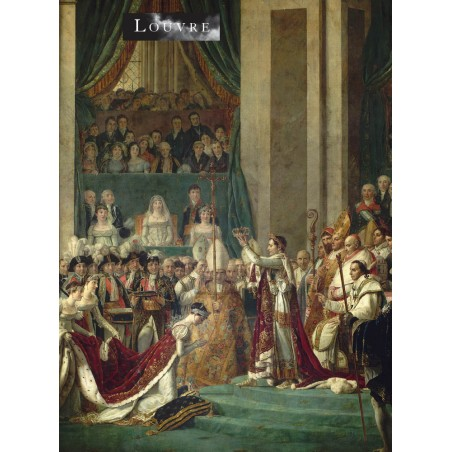 From a painting by Jacques-Louis David depicting the emperor Napoleon I crowned himself in 1804 at Notre-Dame cathedral in paris