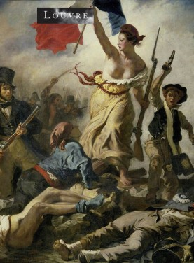 Bookend The Liberty leading the people from a painting by Eugène Delacroix. Louvre Museum. Height 19 cm