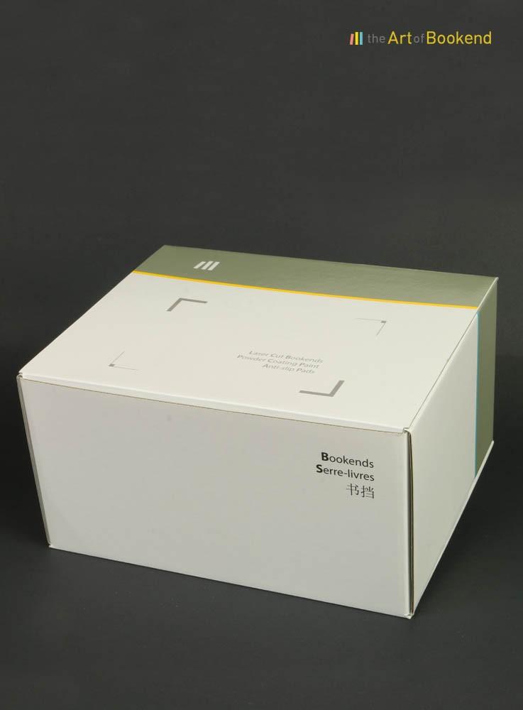 Boite imprimée offset pour le packaging d'une paire de serre-livres