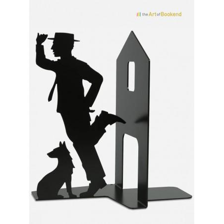Serre-livres Buster Keaton. Création en métal fabriquée dans l'Union Européenne. Hauteur 19 cm