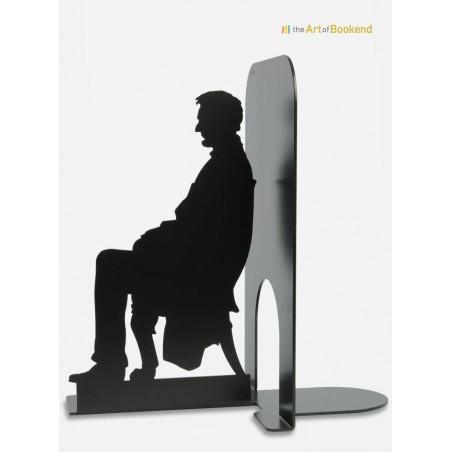 Serre-livres Abraham Lincoln Président des Etats-Unis d'Amérique. Création en métal par découpe laser. Hauteur 19 cm