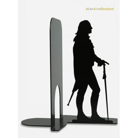 Serre-livres George Washington Président des Etats-Unis d'Amérique. Création en métal par découpe laser. Hauteur 19 cm
