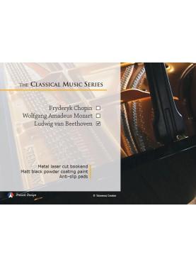 La série Musique Classique - Ludwig van Beethoven. Design Jacques Lahitte © the Art of Bookend