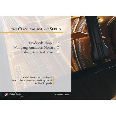 La série Musique Classique - Frédéric Chopin. Design Jacques Lahitte © the Art of Bookend