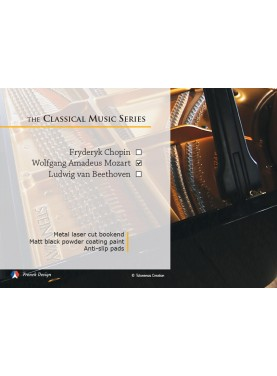La série Musique Classique - Wolfgang Amadeus Mozart. Design Jacques Lahitte © the Art of Bookend