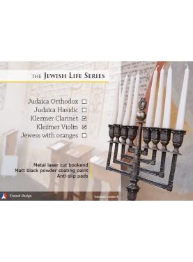 La série Jewish Life Klezmer - Musiciens Violon et Clarinette. Design Jacques Lahitte © the Art of Bookend