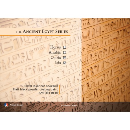 La série Egypte Antique - Isis et Osiris. Design Jacques Lahitte © the Art of Bookend