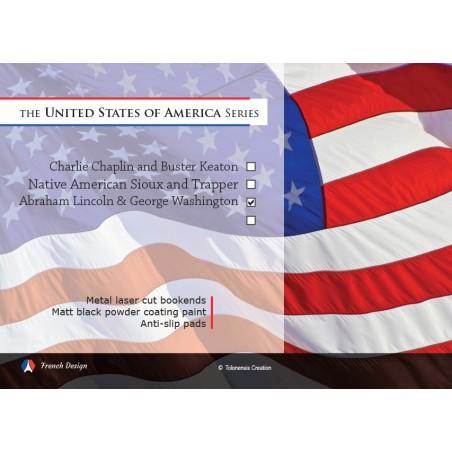 La série USA - Abraham Lincoln et George Washington. Design Jacques Lahitte © the Art of Bookend